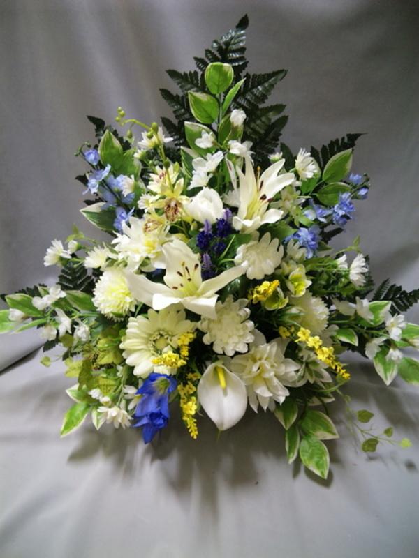 お盆参りには造花アレンジメントがおすすめです!