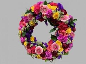 【生花リース】開店、開業、開院、周年祝い、お誕生日の御祝いに…