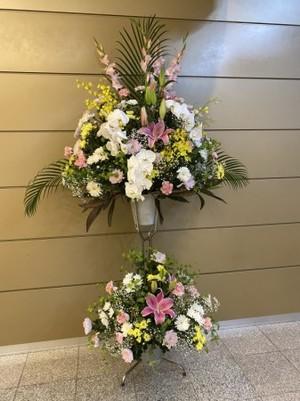【お供え用 生花スタンド】葬式・お葬式・お通夜・告別式の供花として…