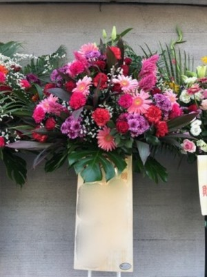 【生花スタンド】開店、開業、開院、周年祝い、お誕生日の御祝いに…