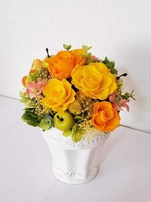 【プリザーブドフラワー花瓶】お誕生日、母の日、長寿などプレゼントとして…