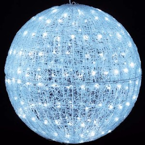 耐水80cm240球広角型LEDホワイトグロー立体ボール