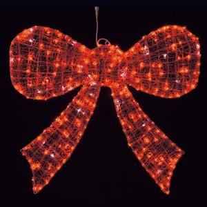 耐水105cm288球広角型LEDレッドグロー立体ボウ