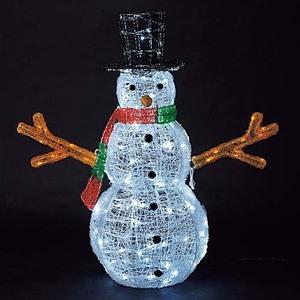 耐水165cm340球広角型LEDホワイトイエローグロー立体スノーマン