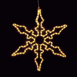 耐水65cm140球広角型LEDシャンペーンロープライトスノーフレーク