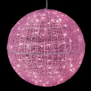 耐水80cm240球広角型LEDピンクグロー立体ボール