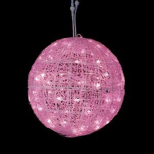 耐水45cm100球広角型LEDピンクグロー立体ボール