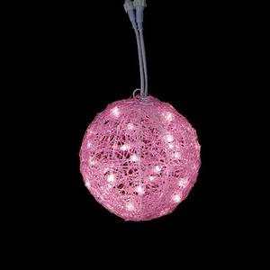 耐水20cm40球広角型LEDピンクグロー立体ボール
