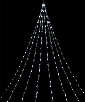 耐水416球広角型LEDホワイトデルタカーテンライト/クリアコード