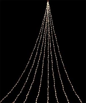 耐水704球広角型LEDシャンペーンデルタカーテンライト/クリアコード