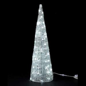 耐水90cm60球広角型LEDホワイトグロー立体コーン