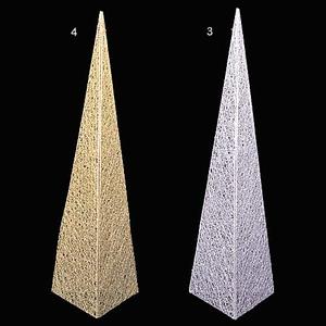 90cmグリッターワイヤーメッシュピラミッド