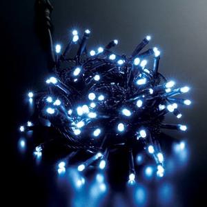 耐水100球広角型ネオLEDホワイトライト/ブラックコード