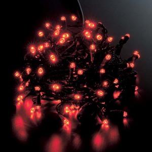 耐水100球広角型ネオLEDレッドライト/ブラックコード