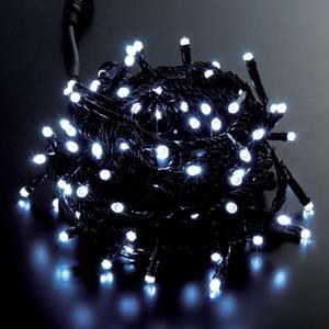 耐水100球広角型スーパーLEDホワイトライト/ブラックコード