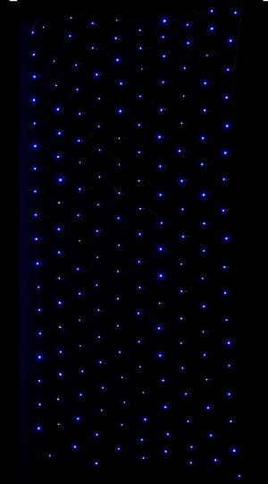 耐水180球広角型LEDブルーネットライト/ブラックコード