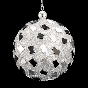 8cmブラックシルバージュエルボール