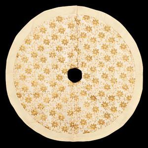 120cmホワイトベルベットゴールドポインツリースカート