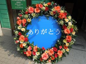 【造花フラワーリース】イベントや店舗ディスプレイなどに…