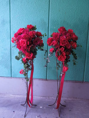 【造花フラワースタンド】イベントや店舗ディスプレイなどに…